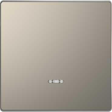 Выключатель одноклавишный перекрестный с подсветкой Merten D-life (с 3-х мест) 10А/250В, никель металл