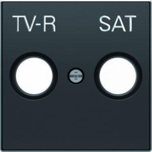 Розетка TV-R/SAT единственная ABB Sky, черный бархат