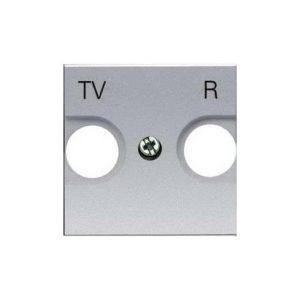 Телевизионная розетка TV-R без фильтра ABB Niessen Zenit (серебристый)