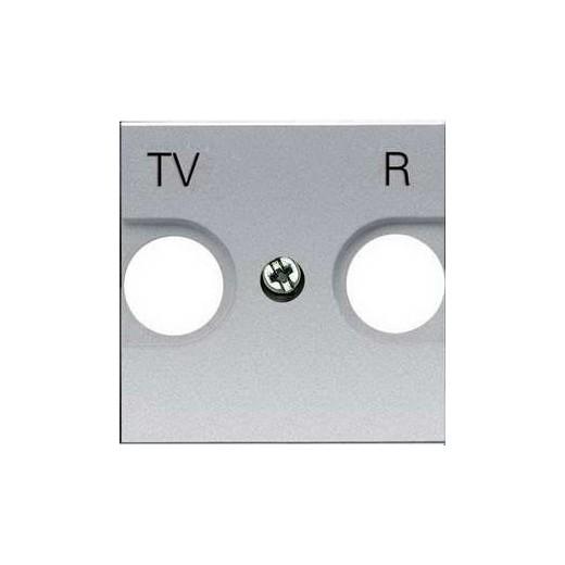 Телевизионная розетка TV-R оконечная ABB Niessen Zenit (серебристый)