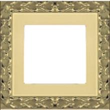 Рамка на 1 пост, Fede SAN SEBASTIAN, цвет bright gold