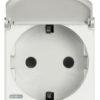 Розетка Axolute 2К+З, 10/16 А 250 В с заземляющими контактами Schuko,клеммы с автоматическим зажимом, с защитными шторками, 2 модуля