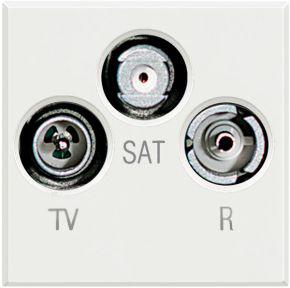 TV+FM+SAT розетка Axolute, оконечная, 2 модуля