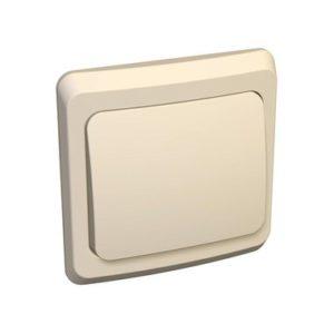 Выключатель одноклавишный скрытой установки Schneider Electric Этюд, цвет кремовый
