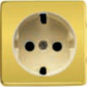 Розетка с заземлением Fede 10-16А/250В, винтовой зажим (красное золото/бежевый)