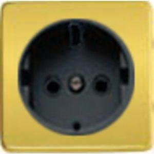 Розетка с заземлением Fede 10-16А/250В, винтовой зажим (красное золото/черный)
