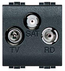 TV+FM+SAT розетка, оконечная LivingLight, 2 модуля