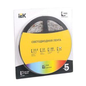 Лента LED 5м блистер LSR-5050RGB60-14,4-IP20-12V полноцветная ИЭК