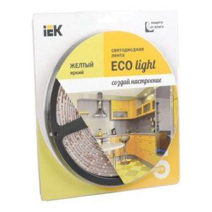 Лента LED 5м блистер LSR-3528Y60-4.8-IP20-12V желтый цвет ИЭК-eco