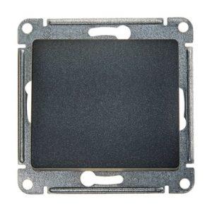 Механизм выключателя кнопочный Schneider Electric GLOSSA, цвет антрацит