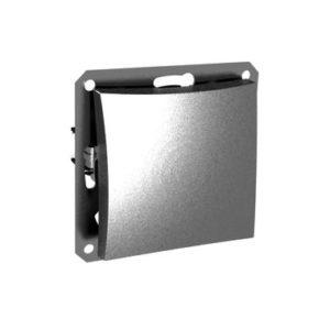 Механизм выключателя одноклавишный Schneider ДУЭТ, цвет серебристый