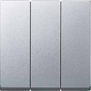 Выключатель трехклавишный Merten 10А/250В, алюминий