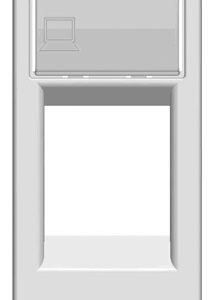 Розетка компьютерная 8 контактов ABB Niessen Zenit (узкая, 1 модуль), категория 5E (Белый)