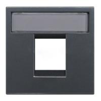 Розетка компьютерная 8 контактов одноместная ABB Niessen Zenit, категория 5E (антрацит)