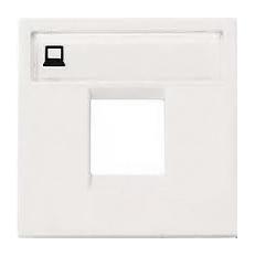 Розетка компьютерная 8 контактов одноместная ABB Niessen Zenit, категория 5E (Белый)