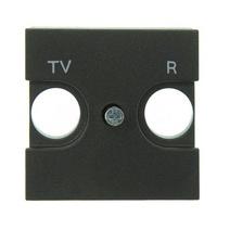 Телевизионная розетка TV-R без фильтра ABB Niessen Zenit (антрацит)