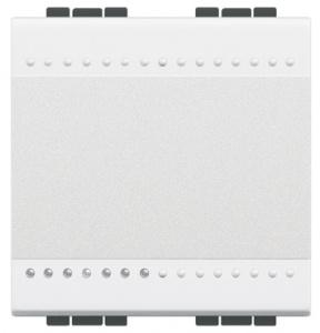 Кнопочный выключатель с подсветкой (цвет янтарный) LivingLight 16 А 250 В~ 2 модуля