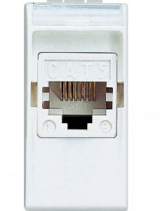 Компьютерная/интернет розетка 5 кат. RJ45, LivingLight 1 модуль