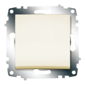 Выключатель 1 клавишный ABB Cosmo кремовый