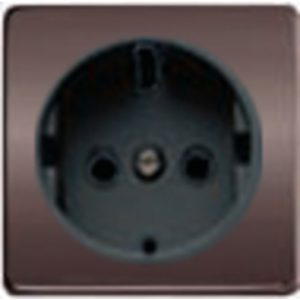 Розетка с заземлением Fede 10-16А/250В, винтовой зажим (графит-черный)