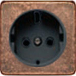 Розетка с заземлением Fede 10-16А/250В, винтовой зажим (медь/черный)