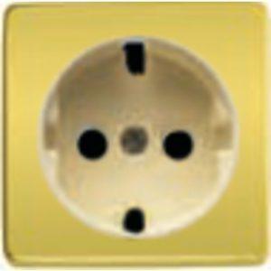 Розетка с заземлением Fede 10-16А/250В, винтовой зажим (светлое золото/бежевый)