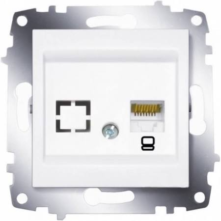 Розетка компьютерная 1-ая rj 45 6 кат. ABB Cosmo белый