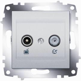 Розетка TV-SAT оконечная ABB Cosmo алюминий