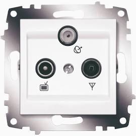 Розетка TV-FM-SAT оконечная ABB Cosmo белый