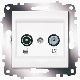 Розетка TV-SAT оконечная ABB Cosmo белый