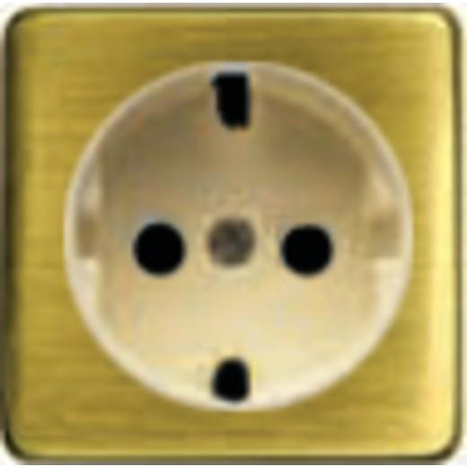 Розетка с заземлением Fede 10-16А/250В, винтовой зажим (светлый бронза/бежевый)