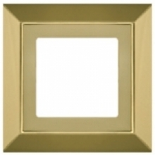 Рамка на 1 пост, Fede BARCELONA, цвет bright gold