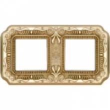 Рамка 2-ая, серия Fede TOSCANA FIRENZE, цвет Bright gold