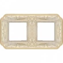Рамка 2-ая, с рия Fede TOSCANA FIRENZE, цвет Gold White patina