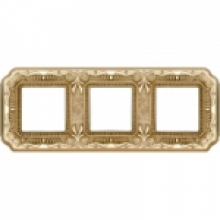 Рамка 3-ая, серия Fede TOSCANA FIRENZE, цвет Bright gold