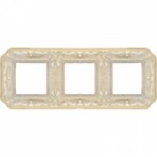 Рамка 3-ая, серия Fede TOSCANA FIRENZE, цвет Gold White patina