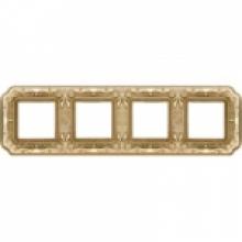 Рамка 4-ая, серия Fede TOSCANA FIRENZE, цвет Bright gold