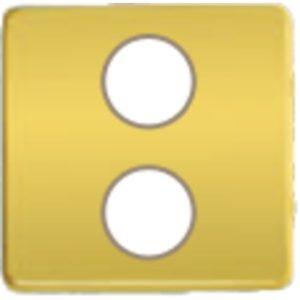 Телевизионная розетка оконечная Fede с двойным SAT+DC/TV