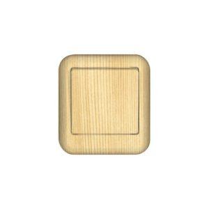 Выключатель одноклавишный с изолирующей пластиной открытой установки Schneider Electric Прима, цвет сосна