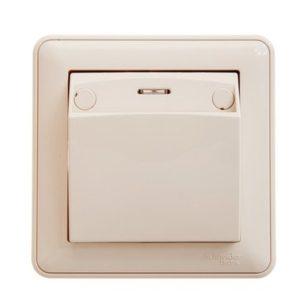 Выключатель карточный без задержки отключения Schneider Electric W59 в сборе, цвет слоновая кость