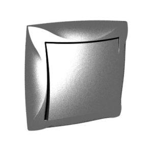Выключатель одноклавишный Schneider ДУЭТ в сборе, цвет серебристый
