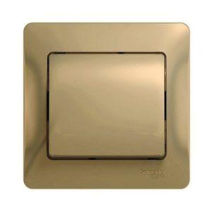 Выключатель одноклавишный Schneider Electric GLOSSA в сборе, цвет титан