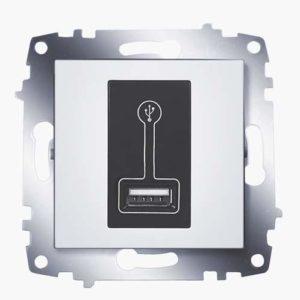 Розетка USB для зарядки ABB Cosmo белый