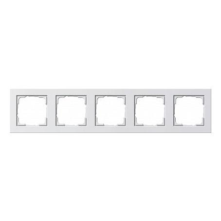 Gira E2 Бел глянц Рамка 5-ая