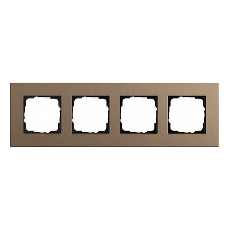 Gira ESP Lenoleum-Multiplex светло-коричневый Рамка 4-ая