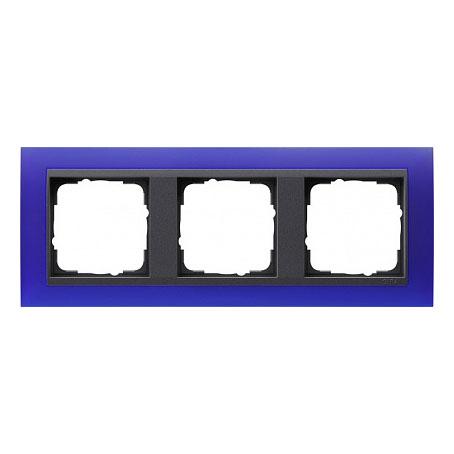 Gira EV Матово-синий/антрацит Рамка 3-ая