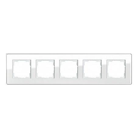 Gira ESP Glass C Белое стекло Рамка 5-ая