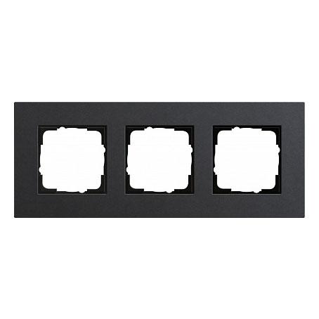 Gira ESP Lenoleum-Multiplex антрацит Рамка 3-ая