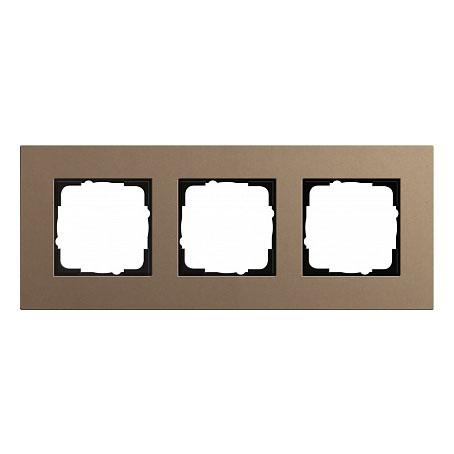 Gira ESP Lenoleum-Multiplex светло-коричневый Рамка 3-ая
