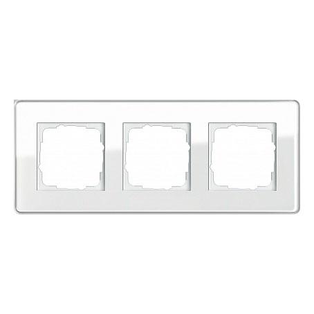 Gira ESP Glass C Белое стекло Рамка 3-ая